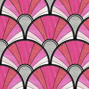 Deco Pattern in Pink Ombre