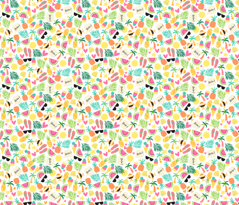 Tropical novelty 2 fabric by laura_may_designs on Spoonflower - custom fabric