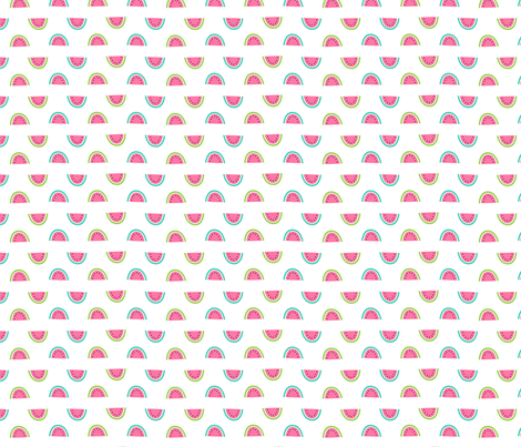 watermelon slices fabric by laura_may_designs on Spoonflower - custom fabric