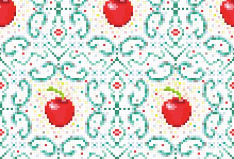 Cherry on the floor fabric by appaloosa_designs on Spoonflower - custom fabric