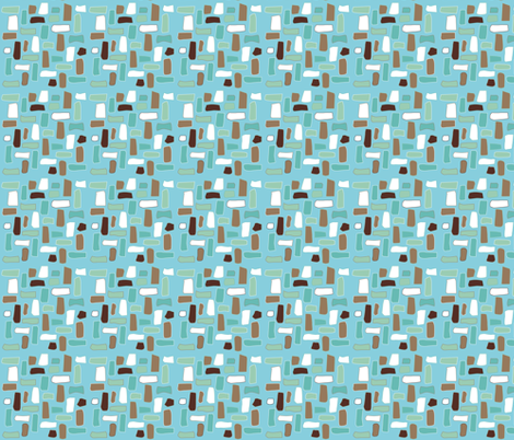 Scattered little rectangles fabric by colorofmagic on Spoonflower - custom fabric