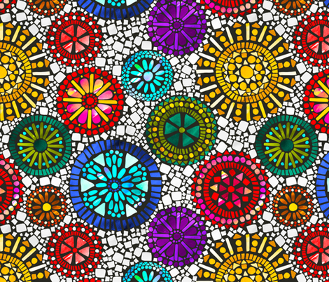 Medalions of the Sun fabric by pinky_wittingslow on Spoonflower - custom fabric