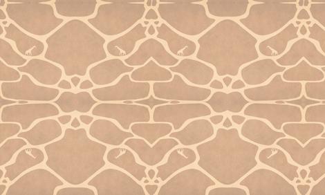 Giraffe print fabric by stroemsholtdesign on Spoonflower - custom fabric