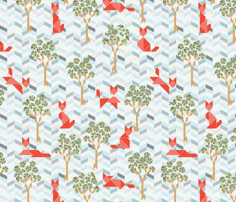 fox_tangram fabric by nadja_petremand on Spoonflower - custom fabric