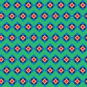 Green Chevron Blue Boxes