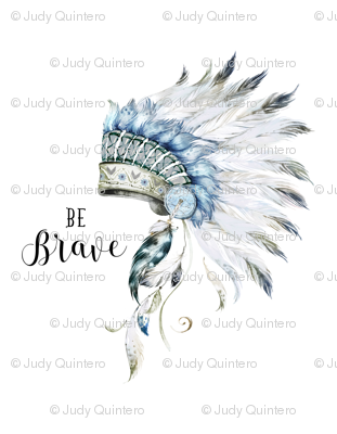 "56""x72"" BE BRAVE / Headdress / Boys"