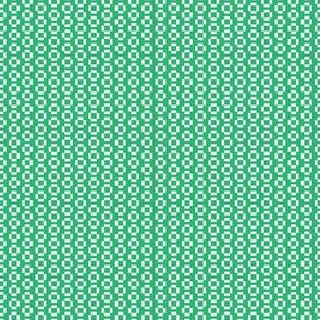 Digital White Squares on Green