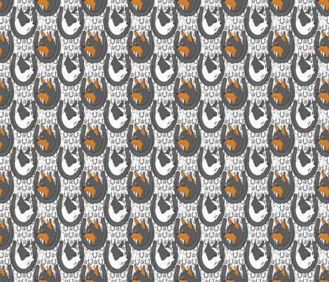 Chihuahua horseshoe portraits B - small fabric by rusticcorgi on Spoonflower - custom fabric