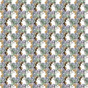 Floral Pembroke Welsh Corgi portraits B - small