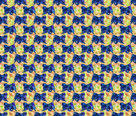 Cosmic trotting Japanese Chin - day fabric by rusticcorgi on Spoonflower - custom fabric