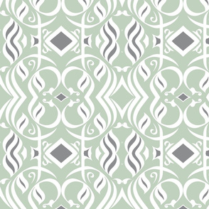 abstract_arabic_caligraphy__square_grey_green_white