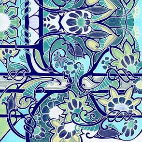 Bold Blue Jungle
