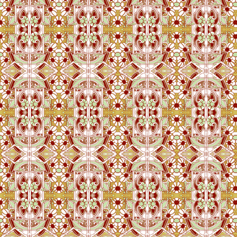 Itsy Bitsy Edwardian Daisy Patch fabric by edsel2084 on Spoonflower - custom fabric