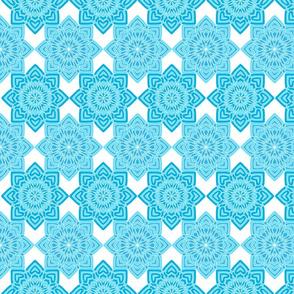 Azul Mandalas on White