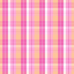 pink melon orange plaid six