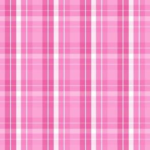 pink white plaid ten