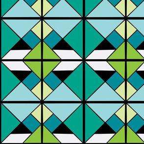 Tangram geo blue