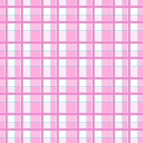 pink teal plaid twelve