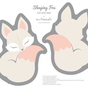 Cut and sew your own Sleeping Fox