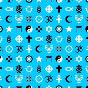 multifaith 18 : turquoise blue