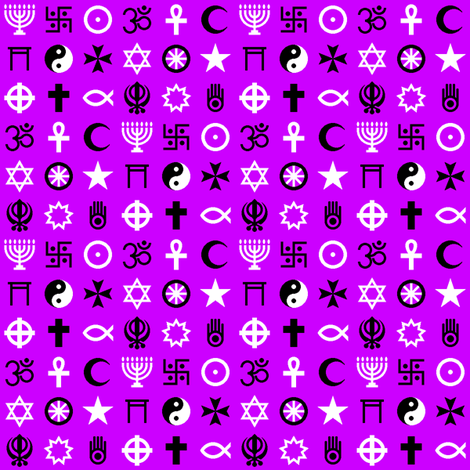 multifaith 18 : magenta-violet fabric by sef on Spoonflower - custom fabric