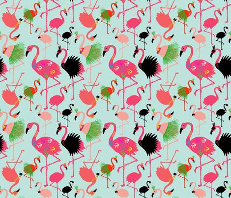 Black Swan Flamingo fabric by kellyparkersmith on Spoonflower - custom fabric