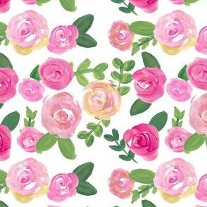 fuschia pink acrylic floral