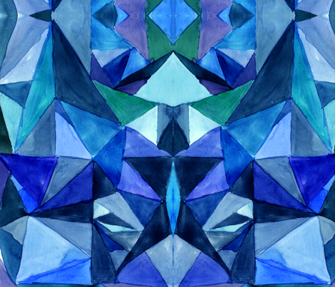 Blue Triangles fabric by parodyofmyself on Spoonflower - custom fabric