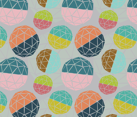 Mid-Century Globes fabric by designsidestudio on Spoonflower - custom fabric