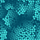 Microscopic Mermaid Scales Teal and Mint or Turquoise Dots on Teal