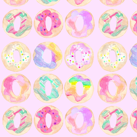 donut shop flavors pink fabric by erinanne on Spoonflower - custom fabric