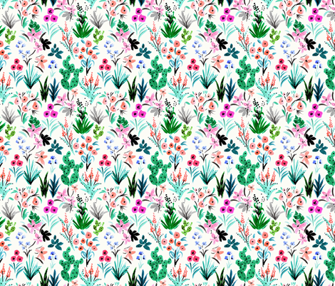 Tropical Ditsy fabric by crystal_walen on Spoonflower - custom fabric