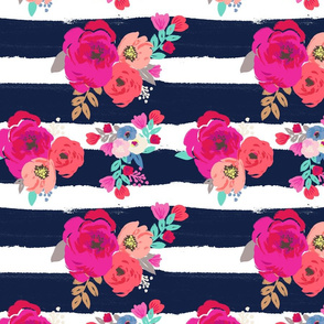 Sweet Pea Floral Stripe