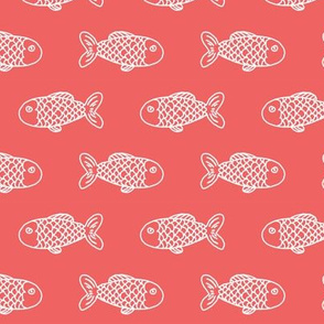 coral fish fabric nursery nautical baby preppy style fabric