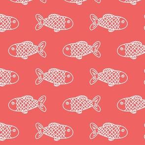 coral fish fabric nursery nautical baby preppy style fabric