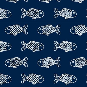navy fish fabric nautical summer fishing fabric boys men fabric