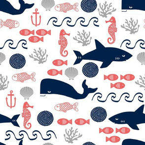 ocean animals fabric sharks whales fabric nursery baby