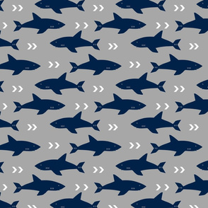 grey and navy shark fabric sharks fabric nautical baby nursery