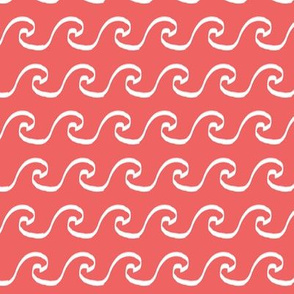 coral wave fabric summer beach fabric