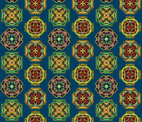 Glowing Mandalas fabric by enid_a on Spoonflower - custom fabric