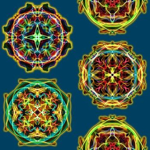 Glowing Mandalas