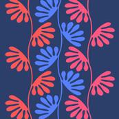 Finger leaves mega-blues + reds