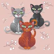 Three nice tiger cats