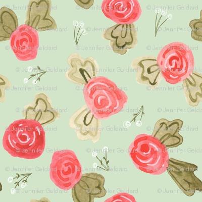Little Roses- mint