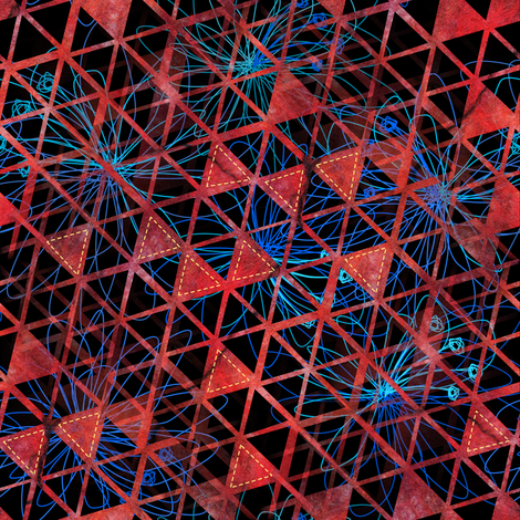 Geodesic Red fabric by mimipinto on Spoonflower - custom fabric