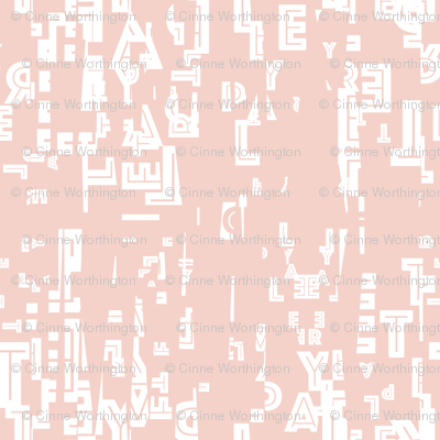 letter play = wordy powder pink