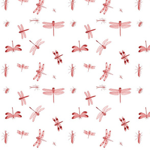 Dragonflies Toile Red