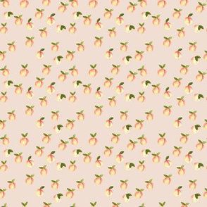 (micro print) watercolor peaches on peach