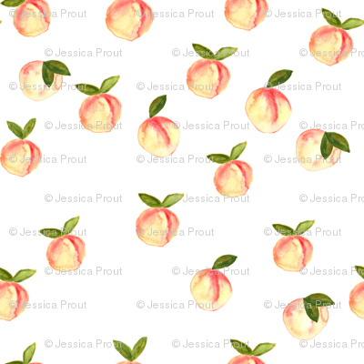 (micro print) watercolor peaches