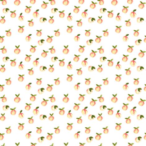 (micro print) watercolor peaches fabric by littlearrowdesign on Spoonflower - custom fabric